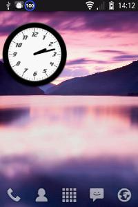 アナログ時計ウィジェット