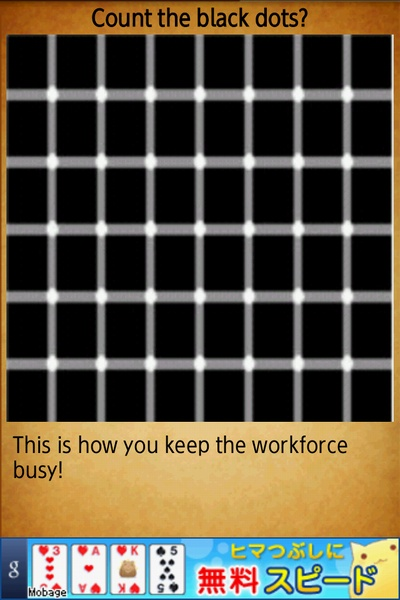 Count the black dots?