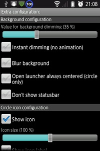 Extra configuration