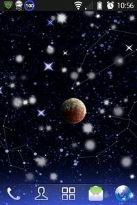 背景が星座