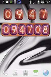 ニキシー時計-デフォルトと秒数表示