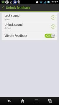 Unlock feedback
